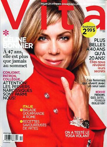 Céline Bonnier par Monic Richard. Maquillage et Coiffure Julie Bégin.