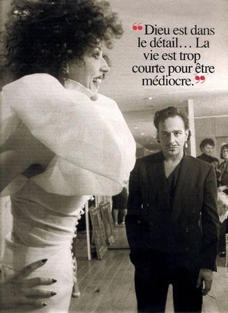 John Galliano et sa muse. Maquillage et Coiffure Julie Bégin.